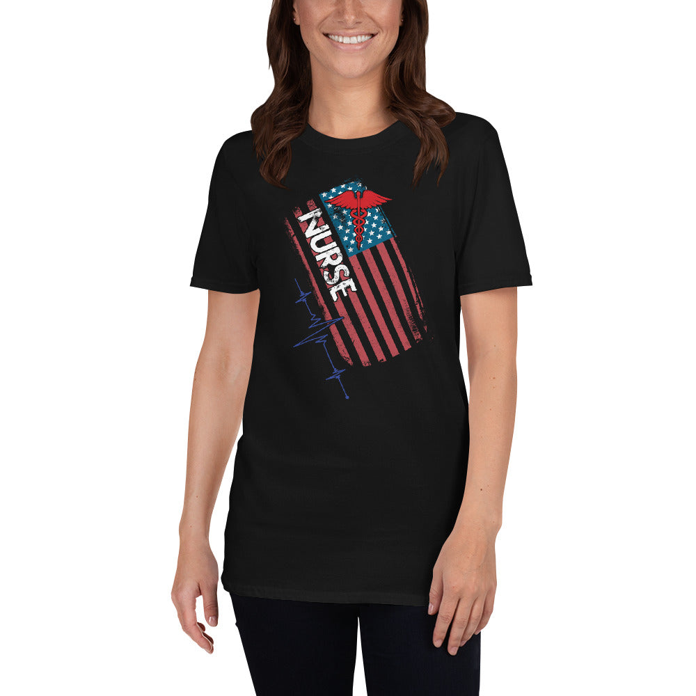 American Nurse Short-Sleeve Unisex T-Shirt | USA Nurse Tee