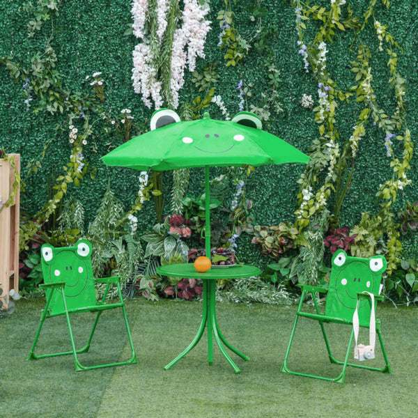 Cute Frog-Themed Kids Picnic Table and Chair Set