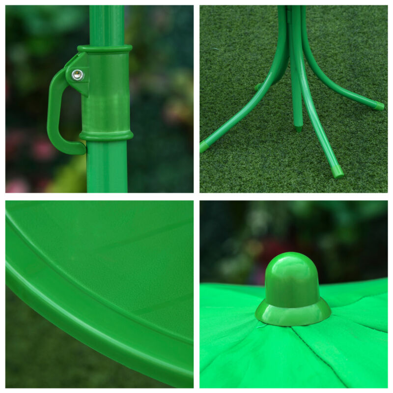 Cute Frog-Themed Kids Picnic Table and Chair Set Connector View
