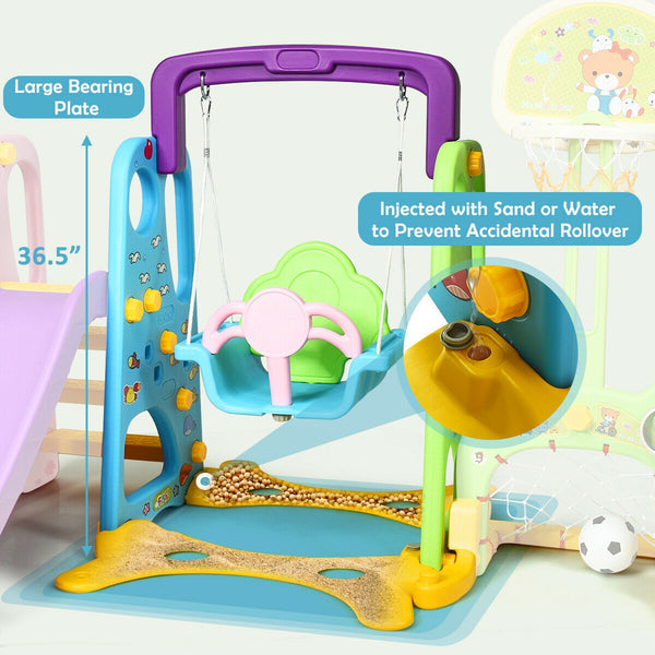 Funtastic 6-in-1 Indoor/Outdoor Activity Playset Safety Features