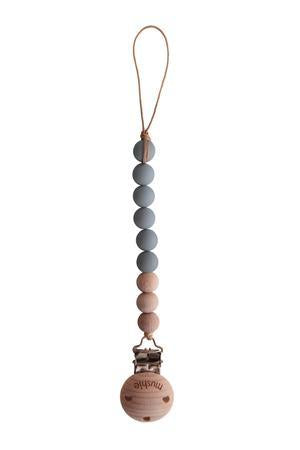 Mushie Fopspeenketting Cleo Stone/Wood