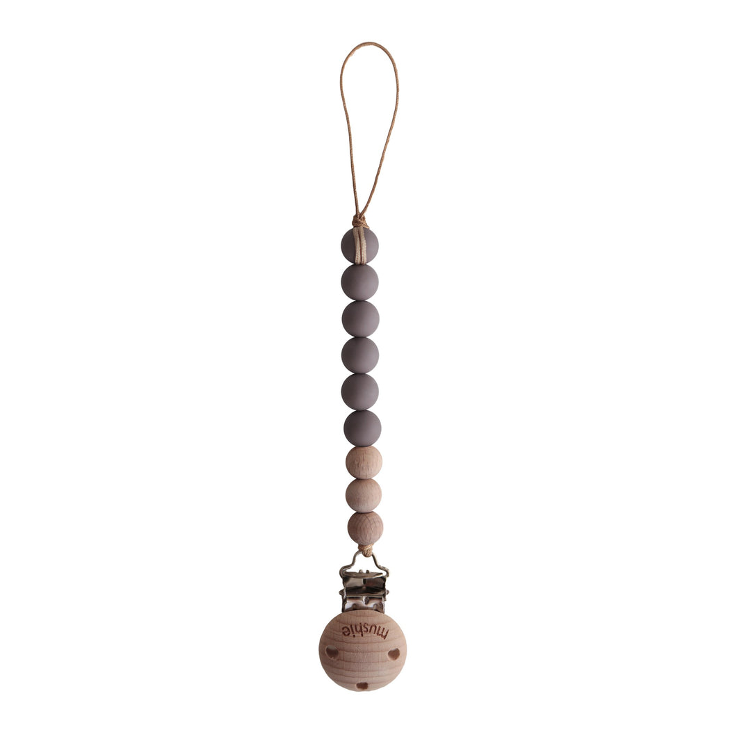 MUSHIE Fopspeenketting Cleo Ash/Wood