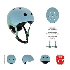 Scoot and Ride Helm Blauw XS