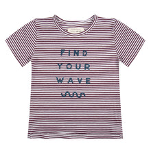 Afbeelding in Gallery-weergave laden, Little Indians T-Shirt Find Your Wave Purple Stripe