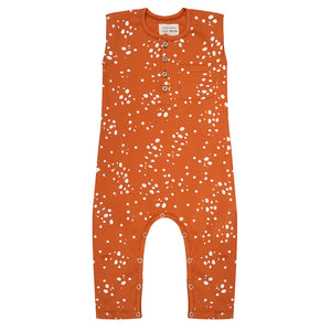 Little Indians Jumpsuit Wild Stars Bombay Brown