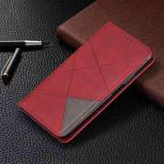 Geometric Leather Flip Case for iPhone Case