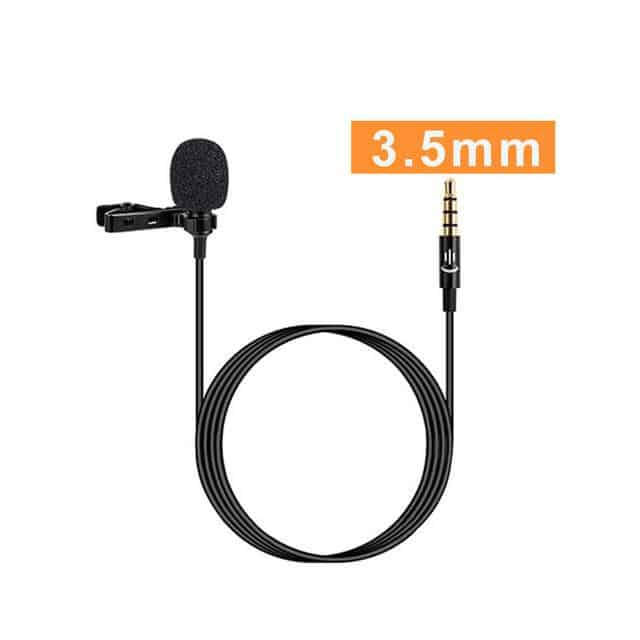 Lavalier Clip-On Microphone Audio, Camera, iPhone