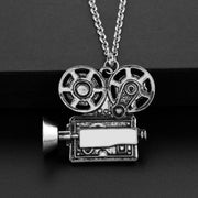 The Filmmaker - Vintage Film Camera Necklace Accessory, Camera