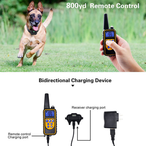 Rechargeable Waterproof 2600 FT Dog Training Collar with Remote for Hunting Trainer