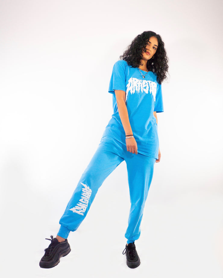 Metal Artistry Sweats Neon Blue