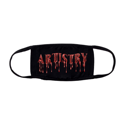 Blood Drip Artistry Black Facemask