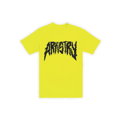 Metal Artistry Tee Neon Yellow