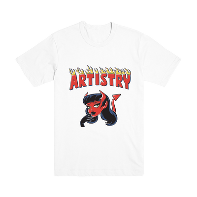 Little Devil White Tee