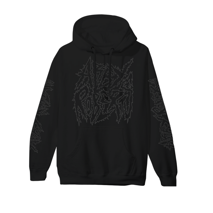 Metal Logo Black on Black Hoodie
