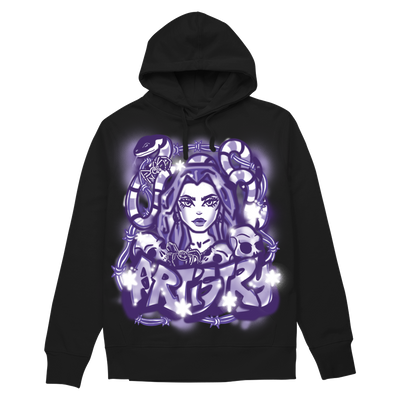 Artistry Graffiti Hoodie - Black/Purple