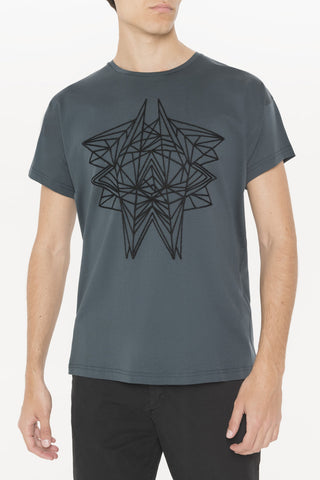 Antony Morato T-Shirt in anthrazit mit Stickereidesign