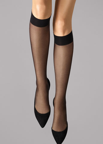 Knie Strümpfe Wolford SATIN TOUCH in Black (schwarz) 31206 SATIN TOUCH 20