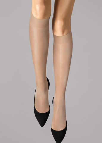 Knie Strümpfe Wolford SATIN TOUCH in Cosmetic (hautfarben) 31206 SATIN TOUCH 20