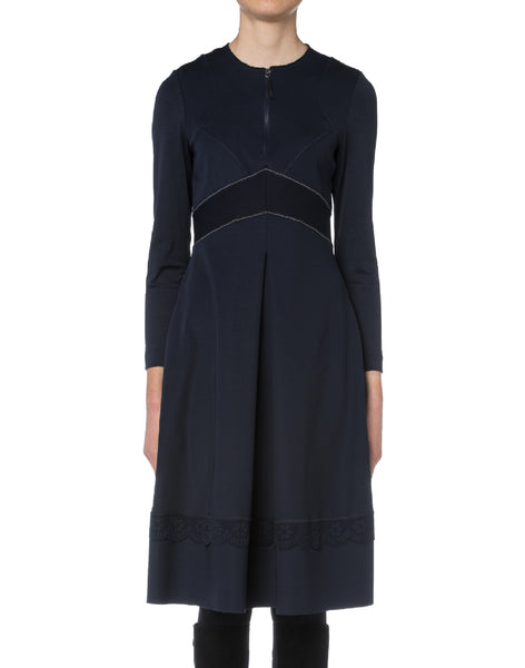 High Kleid ADORABLE in blau in taillierter A-Linie