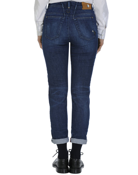 High Jeans OUR-GIRLS mit hoher Taille in Blau