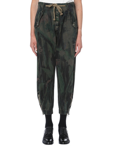 High Hose MYSTIC in oliv aus reiner Baumwolle in Military-Optik