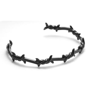 Mens Barbed Wire Cuff (Adjustable)