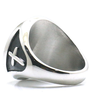 Saint Christopher 316L Stainless Steel Ring
