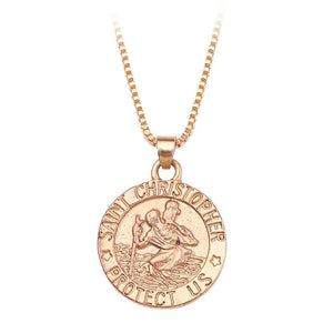 Handmade Mens Heavy St Christopher Necklace