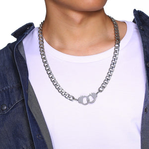 Mens Handcuff Necklace