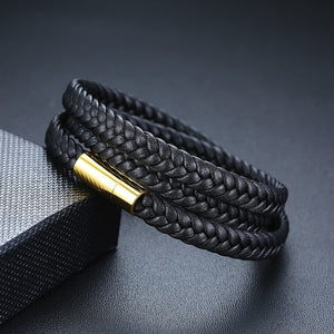 MEN'S LEATHER WRAP AROUND BRACELETS