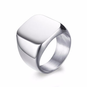 Lux Stainless Steel Signet Ring