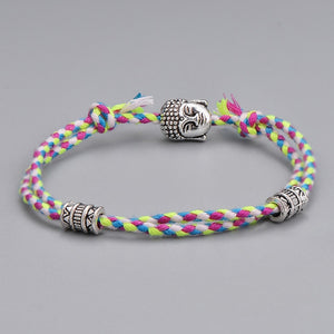 Adjustable Ethnic Tibetan Buddha Head Woven Bracelets