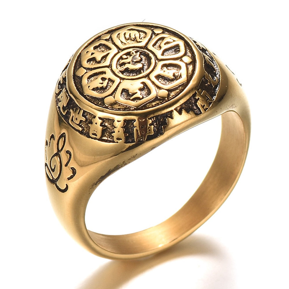 Antique Style Lotus Ring