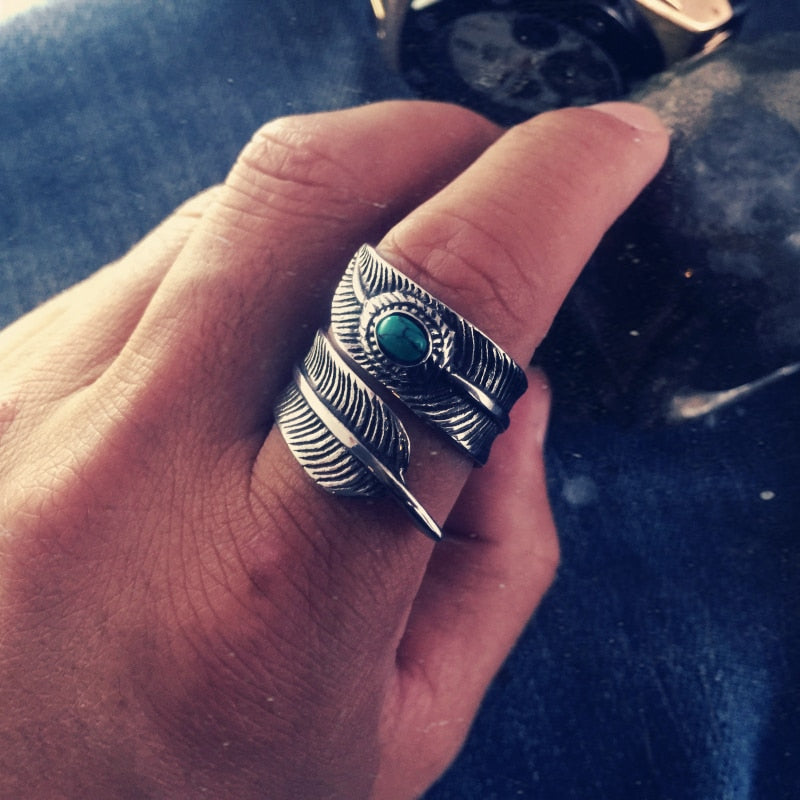 Vintage Feather Ring
