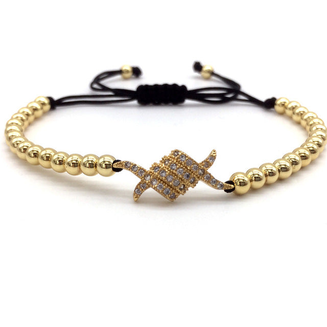 Lux Barbed Wire Beaded Bracelets (Adjustable)