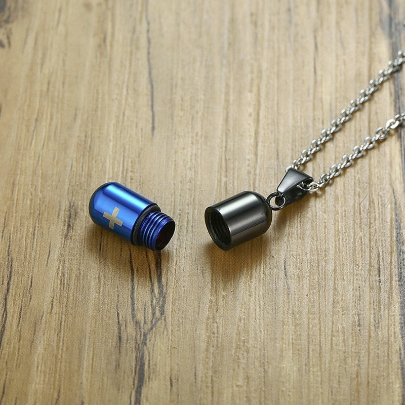 Drug Capsule Necklace