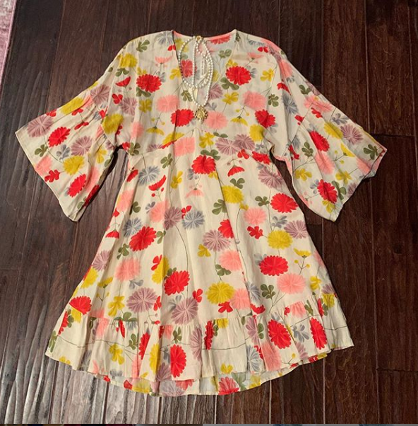 Multi Colored Floral Dress