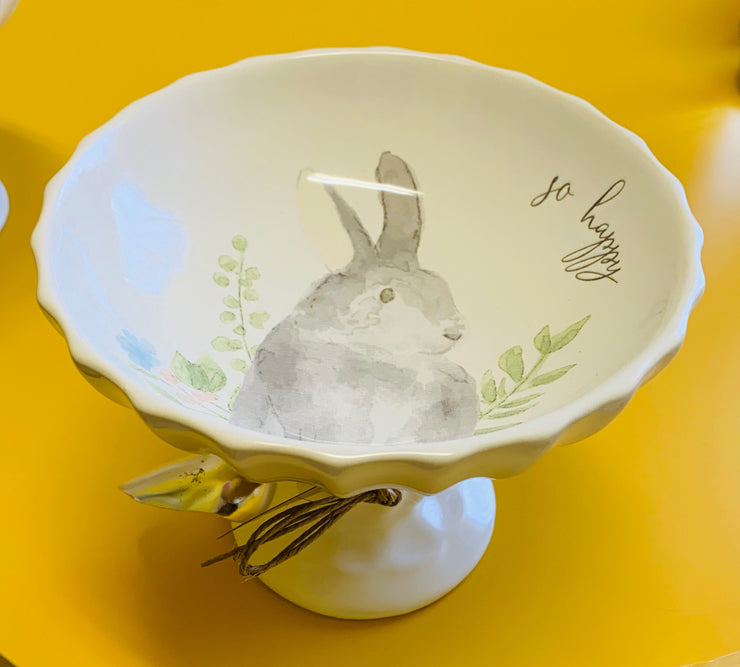 Bunny Watercolor Pedestal