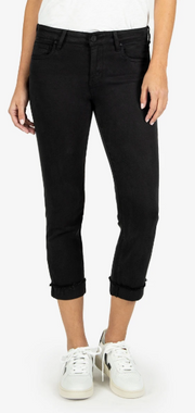 Amy Crop Straight Leg- Black