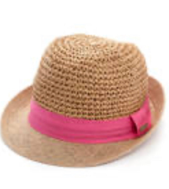Derby hat with pink band