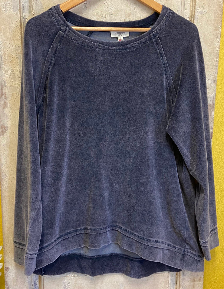 Slate Blue Terry Sweater