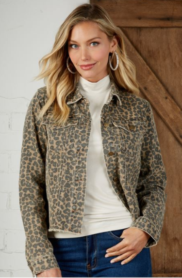 Tan Leopard Jacket