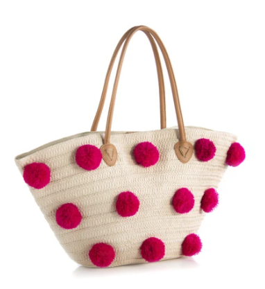 Pink Pom Tote