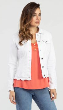 White Scallop Jacket