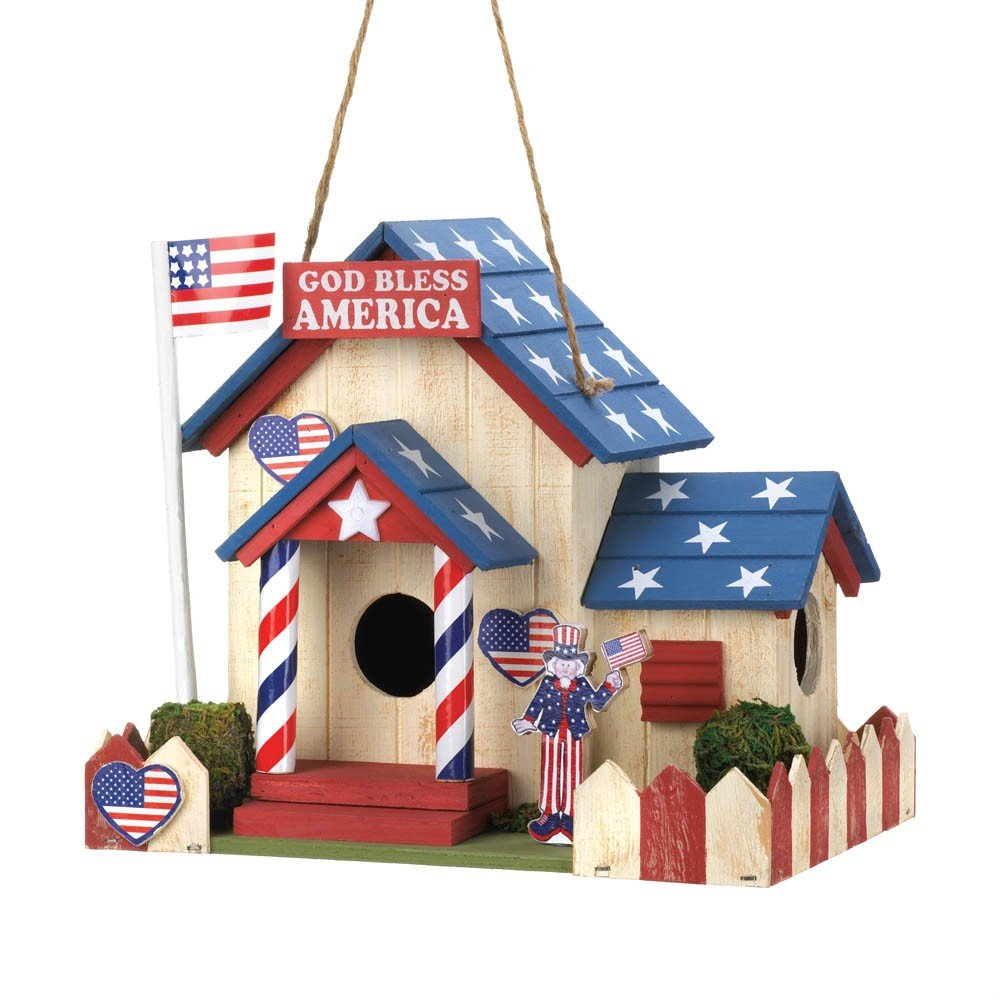 Patriotic Birdhouse Feeder