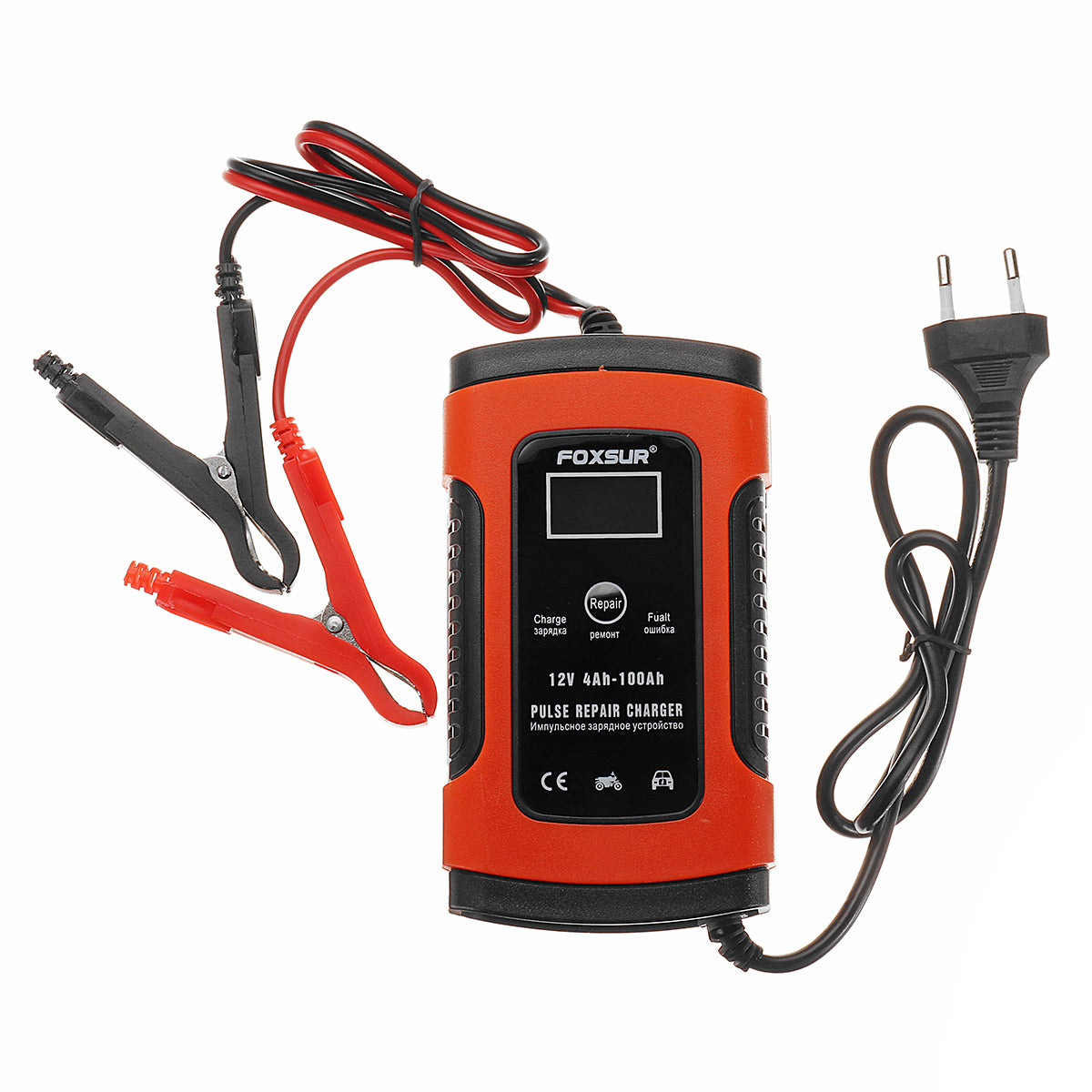110-220V Intelligent Battery Charger 12V 5A Pulse Repair Battery Charging with LCD Display