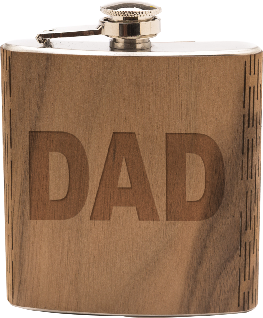 6 oz. Wooden Hip Flask | Father's Day Edition