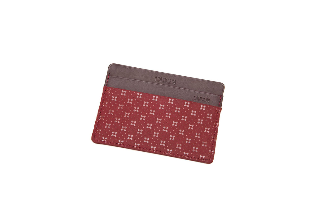 Card Case  Flower Lattice  Red x Red