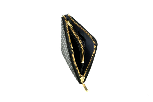 Zipped Coin Purse Small  Seven Treasure  Black x Black