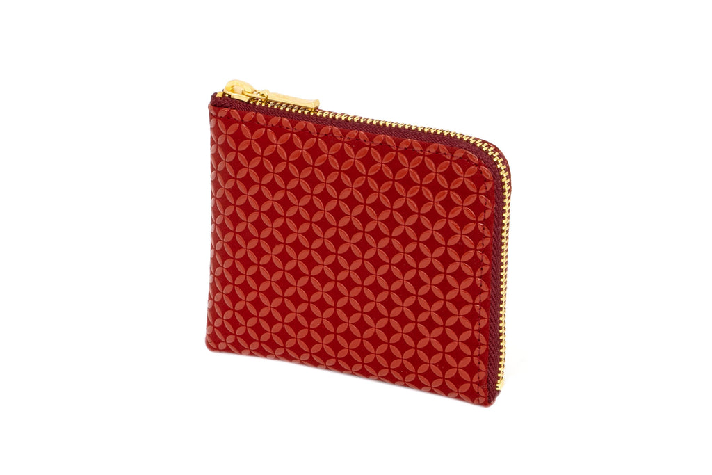Zipped Coin Purse Small  Seven Treasure  Red x Red
